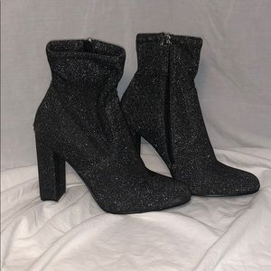 Steve Madden. Ankle sock booties. With SPARKLE!